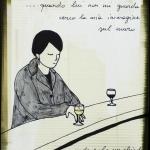 Accanto a un bicchiere di vino